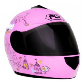 Capacete Fly Fun Love Flowers Infantil