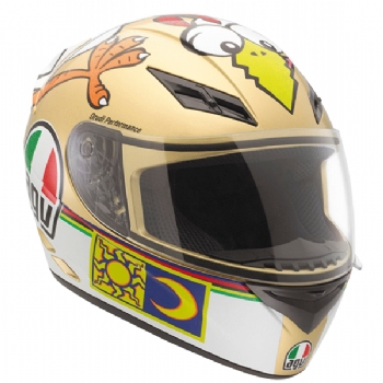 Capacete Agv K3 Rossi Top The Chicken