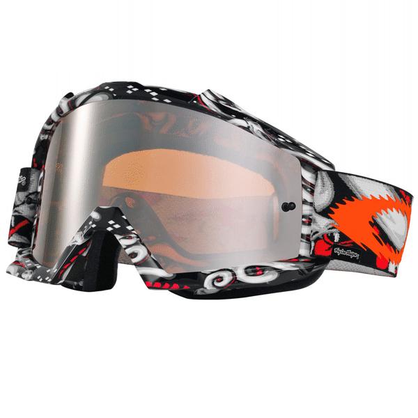 e8294cfa32253 Óculos Oakley Proven Troy Lee Designs Medusa Preto   Cinza   Laranja ...